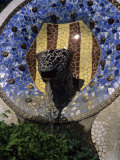 A Fountain Designed by Antoni Gaudi in Parc Guell in Barcelona, Parc Guell, Barcelona, Spain Photographic Print by Taylor S. Kennedy
