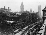 Edward VII's Coronation Procession with the Parliament Buildings in the Background Photographic Print by Russel