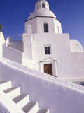 White Architecture, Santorini, Greece Photographic Print by Bill Bachmann