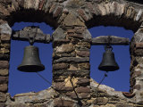 Close View of Two Bells in a Tower Near La Seu D'Urgell, Pyrenees Mountains, Spain, Europe Photographic Print by Stacy Gold