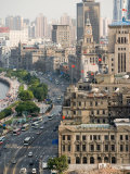 View of the Bund District Along Huangpu River, Shanghai, China Photographic Print by Paul Souders