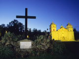 The Santa Barbara Mission at Sunset Photographic Print by Rich Reid