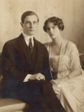 Prince Felix Youssoupoff Russian Aristocrat with His Wife Irina in 1910 Photographic Print