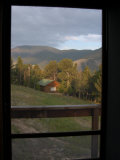 Looking Through a Doorway to the Mountains of Montana, Red Lodge, Montana, United States Photographic Print by Stacy Gold