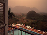 A Beautiful View from a Hotel Balcony During an Afternoon Rainshow, Vinales, Cuba Photographic Print by Taylor S. Kennedy