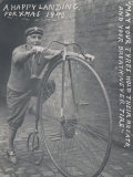 Tom Hughes with the Bicycle He Purchased in 1887 Photographic Print