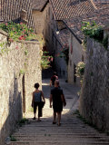 Steep Alleyway, Gubbio, Umbria, Italy Photographic Print by Inger Hogstrom