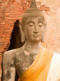 Buddha Image at Ayuthaya, Yai Chai Mongkhon, Siam, Thailand Photographic Print by Gavriel Jecan