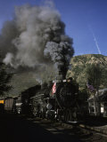 A Steam Engine Leaves the Station in Durango, Colorado, Durango, Colorado Photographic Print by Taylor S. Kennedy