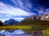 Waterfowl Lake and Rugged Rocky Mountains, Banff National Park, Alberta, Canada Photographic Print by Janis Miglavs
