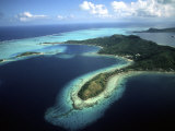 Aerial of Beautiful Bora Bora, Tahiti, French Polynesia Photographic Print by Bill Bachmann