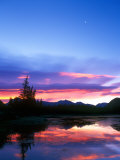 Crescent Moon Over Vermillion Lake in Banff National Park, Alberta, Canada Photographic Print by Rob Tilley
