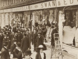 The Windows of Swan and Edgar Ltd Smashed by Suffragettes Photographic Print