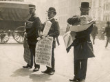 Three Newsmen Sell Their Broadsheet Newspapers at Ludgate Circus Photographic Print