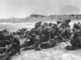 British Troops of the 13th and 18th Hussars Suffer a Temporary Hold-Up on the Beaches of Normandy Photographic Print