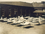 Children at a Hospital in Carshalton are Put in the Sun to Improve Their Conditi Photographic Print