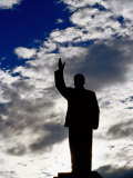 Statue of Mao Tse Tung in Central Business District, Lijiang, China Photographic Print by Richard I'Anson