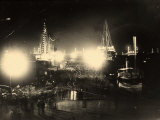 Embarking by Night, at the San Carlo Pier in Trieste Photographic Print