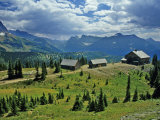 Granite Park Chalet, Glacier National Park, Montana, USA Photographic Print by Chuck Haney