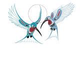 Colibris Reproduction procédé giclée par Richard Shorty