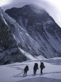 Climbing Towards Mountain Halo, Everest Prints by Michael Brown