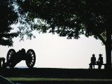 Couple Sitting on a Bench, West Point United States Military Academy Photographic Print by Richard Nowitz