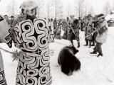 Ainu Ritual of the Bear (Iyomande): the 'Mime Hunting' Photographic Print