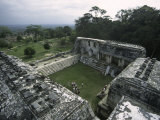 Overlooking Mayan Ruins, Mexico Print by Michael Brown
