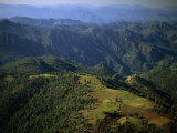 Tarahumara Indian Farms atop a Mountain in the Copper Canyon Region of Mexico Photographic Print by Phil Schermeister
