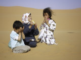 Children in Desert, Morocco Photographic Print by Michael Brown
