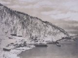 Construction of the Transiberian Railway Around Lake Baikal Photographic Print
