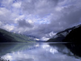 Cloudy Morning on Lake Crescent, Olympic National Park, Washington, USA Photographic Print by Inger Hogstrom