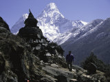 Ama Dablam Landscape, Nepal Photographic Print by Michael Brown