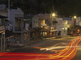 Car Lights at Night in the Gold Rush Town of Angels Camp, California Photographic Print by Phil Schermeister