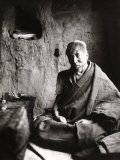 The Monk Tsampa Tendar in Cell at Ritra Near Gyantse, Tibet Photographic Print