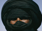 Turbaned Tuareg Man near Hirafok, Algeria Photographic Print by Thomas J. Abercrombie