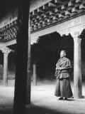 Monk (Trappist) Inside of Th Consacrated Chapel of the Gyantse Fort (Gyantse Dzong) Photographic Print