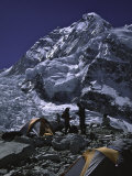 View of Mount Nuptse from Everest Base Camp, Nepal Photographic Print by Michael Brown