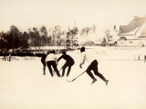 Stockhom Winter Games. Ice Hockey Match of the Swedish and Finnish Teams Reproduction photographique