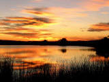 Sunset Light on a Pond at Chico Basin Ranch, Colorado Photographic Print by Willard Clay