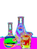 Laboratory Glassware Designs Photographic Print by David M. Dennis