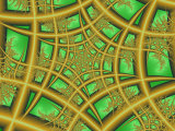 Abstract Web-Like Fractal Patterns on Green Background Photographic Print by Albert Klein