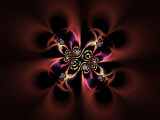 Abstract Fractal Design on Dark Background Photographic Print by Albert Klein