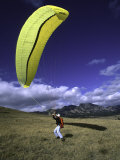 Paraglider Ready for Liftoff, USA Photographic Print by Michael Brown