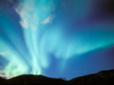 Green Aurora Borealis Around Mt. Snowden, Brooks Range, Alaska, USA Photographic Print by Hugh Rose