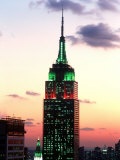 The Empire State Building Illuminated at Night Photographic Print