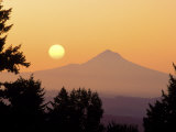 Sunrise Over Mt Hood, Portland, Oregon, USA Photographic Print by Janis Miglavs