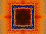 Orange and Blue Fractal Design Photographic Print by Albert Klein
