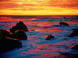 Beautiful Sunset over Gillispie Beach on South Island, New Zealand Photographic Print by John Eastcott & Yva Momatiuk