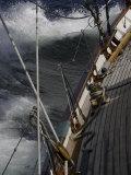 Sailboat in Rough Water, Ticonderoga Race Reprodukcja zdjęcia autor Michael Brown